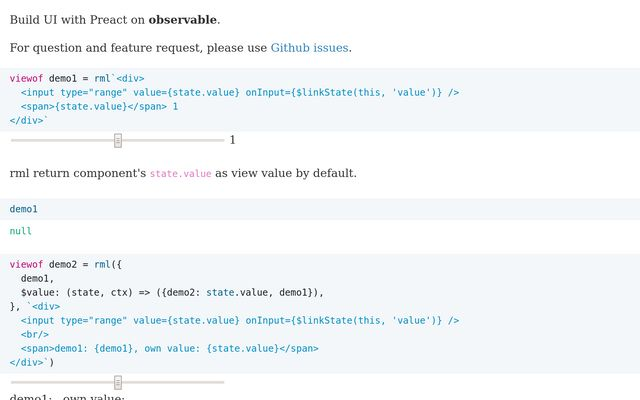 rml - Build UI with Preact / Kindy Lin / Observable