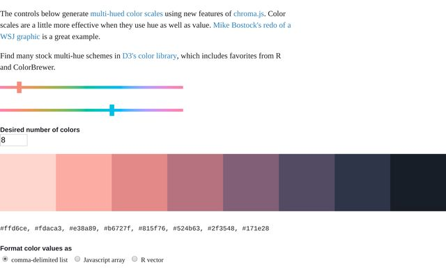 Two-Hue Sequential Color Scale / Casey Labrack / Observable