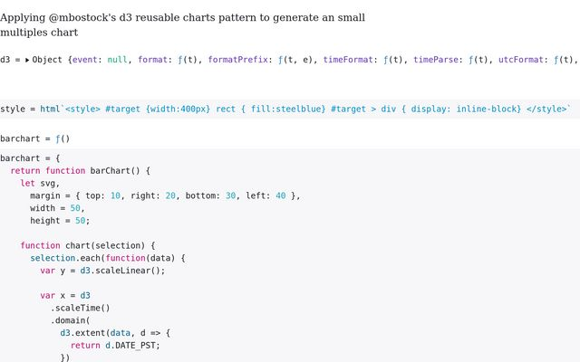 Reusable charts - line / Mathew Brown / Observable