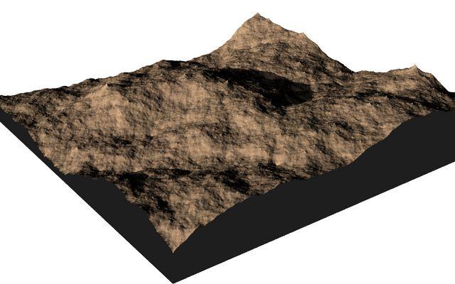 Heightmap generation using diamond-square algorithm