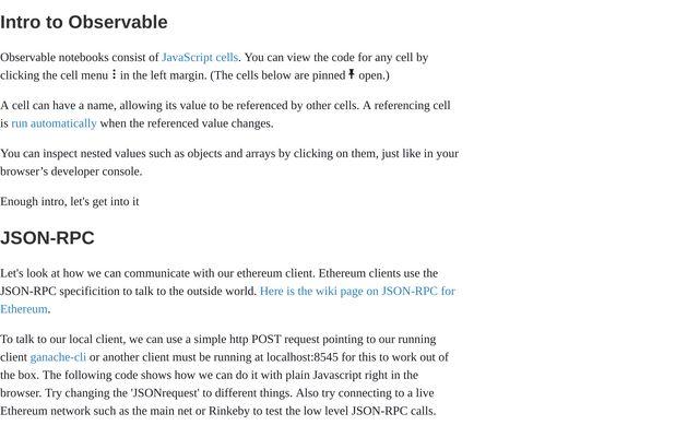 Using Web3 Javascript Libraries / Josh / Observable