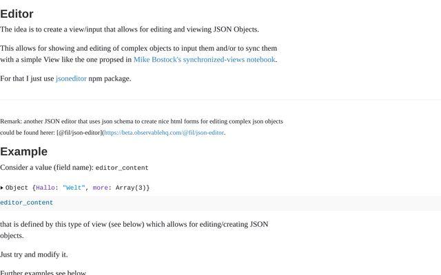 JSONEdit View as Input / jbouecke / Observable