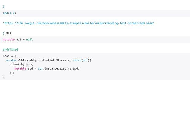 WebAssembly module example / Simon Frost / Observable
