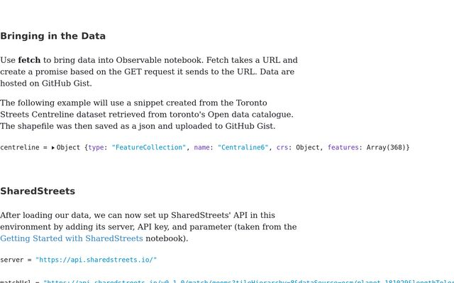How to conflate data with SharedStreets / chmnata / Observable