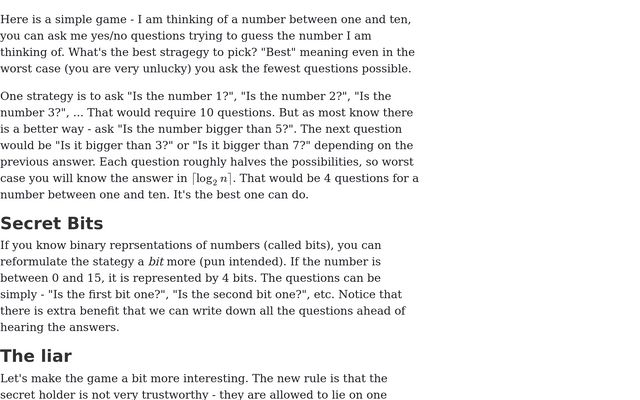 The Secret Number Game / Radoslav Kirov / Observable