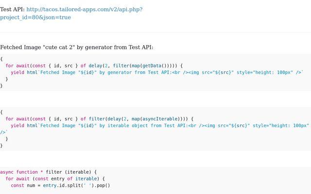 Async Iterable, Iterator & Generator / Stephan Schmid / Observable
