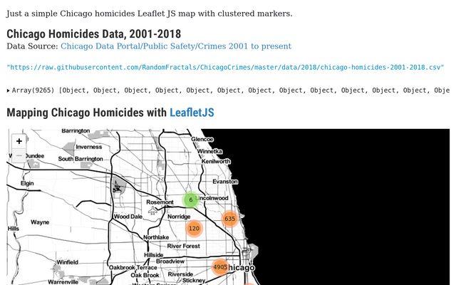 Chicago Homicides Leaflet Map / Taras Novak / Observable