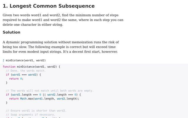 Dynamic Programming Problems / Brooks Mershon / Observable