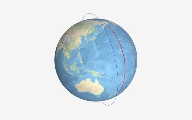 Satellite ground track visualizer / Jake Low / Observable