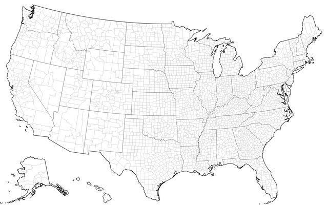 U S  Map (Canvas) / D3 / Observable