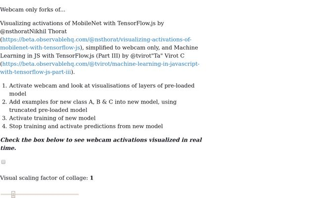 Transfer learning on MobileNetV2, including visualisation of