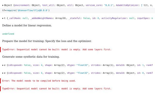 Simple TensorFlow js: Linear regression / Matias Kruk