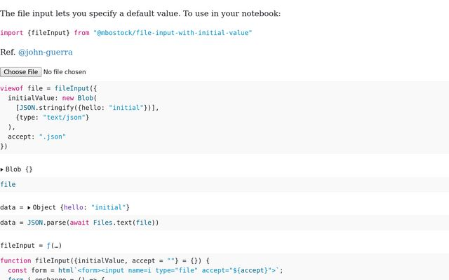 File Input with Initial Value / Mike Bostock / Observable