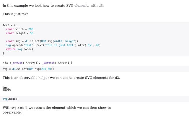 Example: Create Elements / Mila Frerichs / Observable