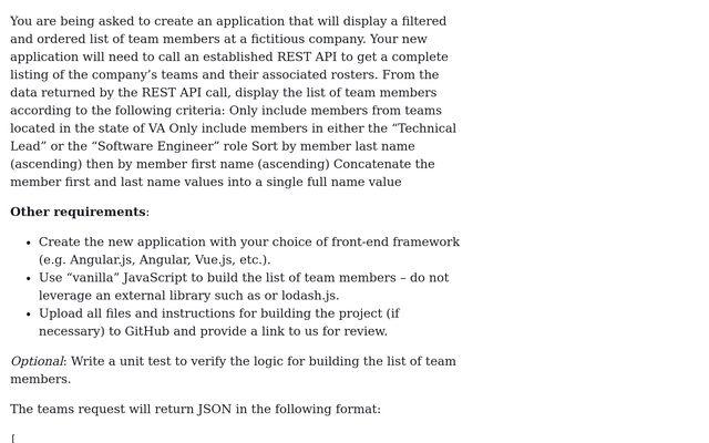JavaScript Coding Challenge / Terrance Hall / Observable