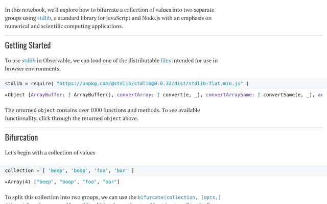 stdlib: Functions for Bifurcating a Collection / Athan