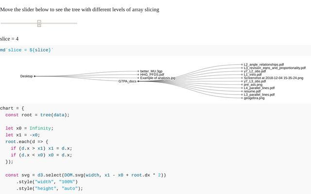 Tidy Tree with adjustable slicing / Michael / Observable