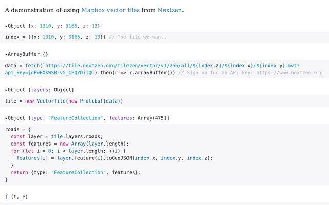 Mapbox Vector Tiles / Mike Bostock / Observable