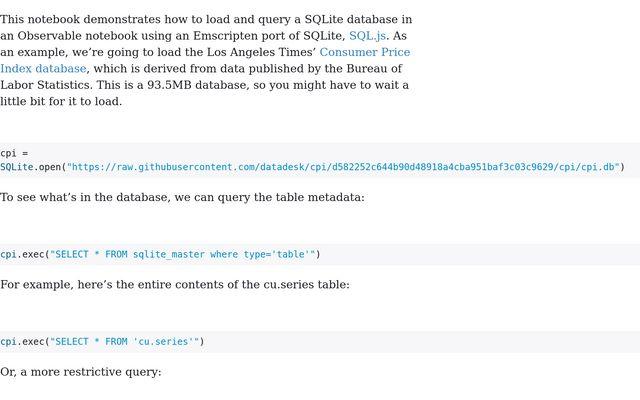 SQLite / Mike Bostock / Observable